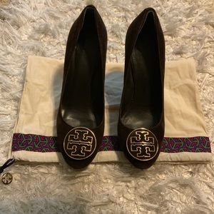 Tory Burch Chocolate Brown Suede Heels